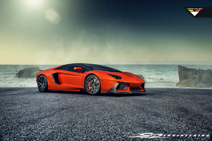 Introducing Vorsteiner's Zaragoza Front Spoiler & Active Aero for Aventador