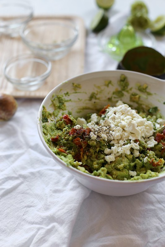 Roasted Tomato and Feta Guacamole