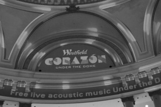 Free Live Acoustic Music in the City - Corazon Under The Dome sign