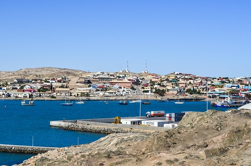 Port of Lüderitz from Shark island