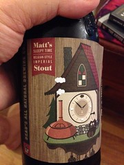 Beersperiment: Beau\'s All Natural Matt\'s Sleepy-Time Belgian-Style Imperial Stout (Ontario) @halyma: 4* Me: 4*
