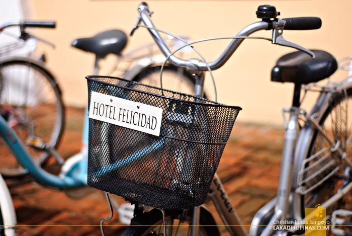 Bikes for Rent at Hotel Felicidad in Vigan City