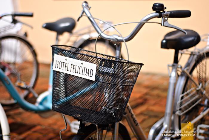 Bikes for Rent at Hotel Felicidad in Vigan City