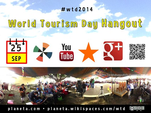 Sep 25 World Tourism Day Hangout #wtd2014