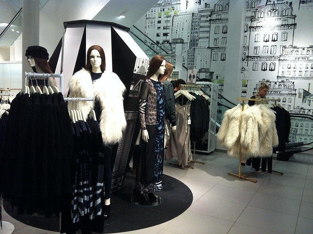 H&M A/W 2014 Studio Collection display at Berlin Kurfurstendamm store