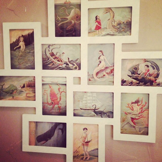 Perfect Nautical Mermaid Art Collage In Our Bathroom Bathroom Display Pirate Theme  Nautical Look Design Style How