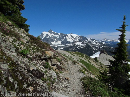 Why I hike the Ptarmigan Ridge Trail: Views of Mt. Shuksan, Mount Baker-Snoqualmie National Forest, Washington