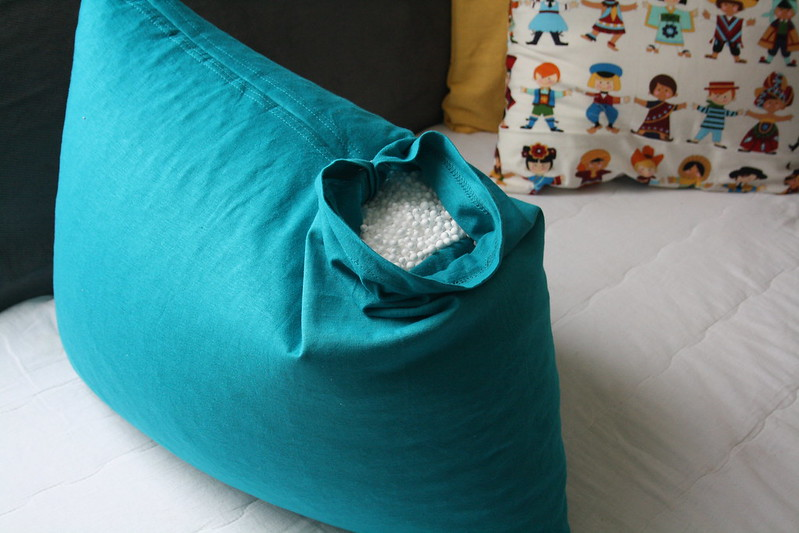 DIY bean bag pillow