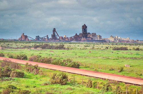Saldanha plant and iron ore conveyor belt, South Africa