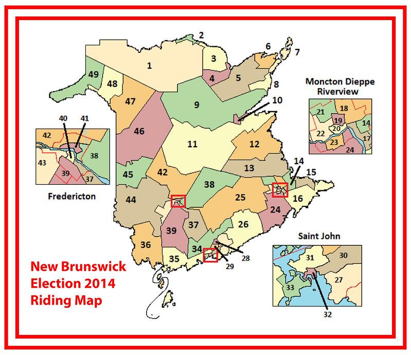 Riding-Map New Brunswick