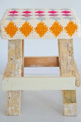 wood & wool stool cristina