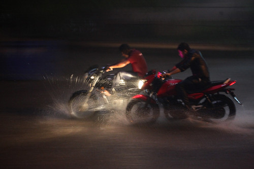 Midnight Bikers in Chennai Rain!
