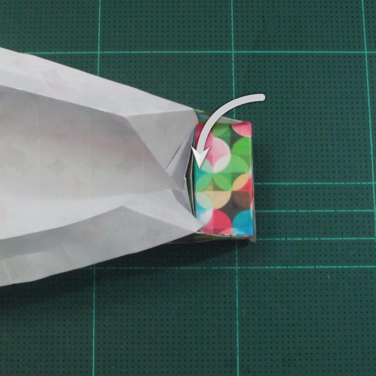 วิธีพับกล่องของขวัญแบบมีฝาปิด (Origami Present Box With Lid) 027