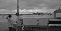 #Gloucester MA Lobstermen Black and White At Captain Joe and Sons