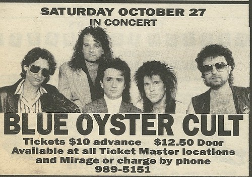 10/27/90 Blue Oyster Cult @ Mirage, Minneapolis, MN