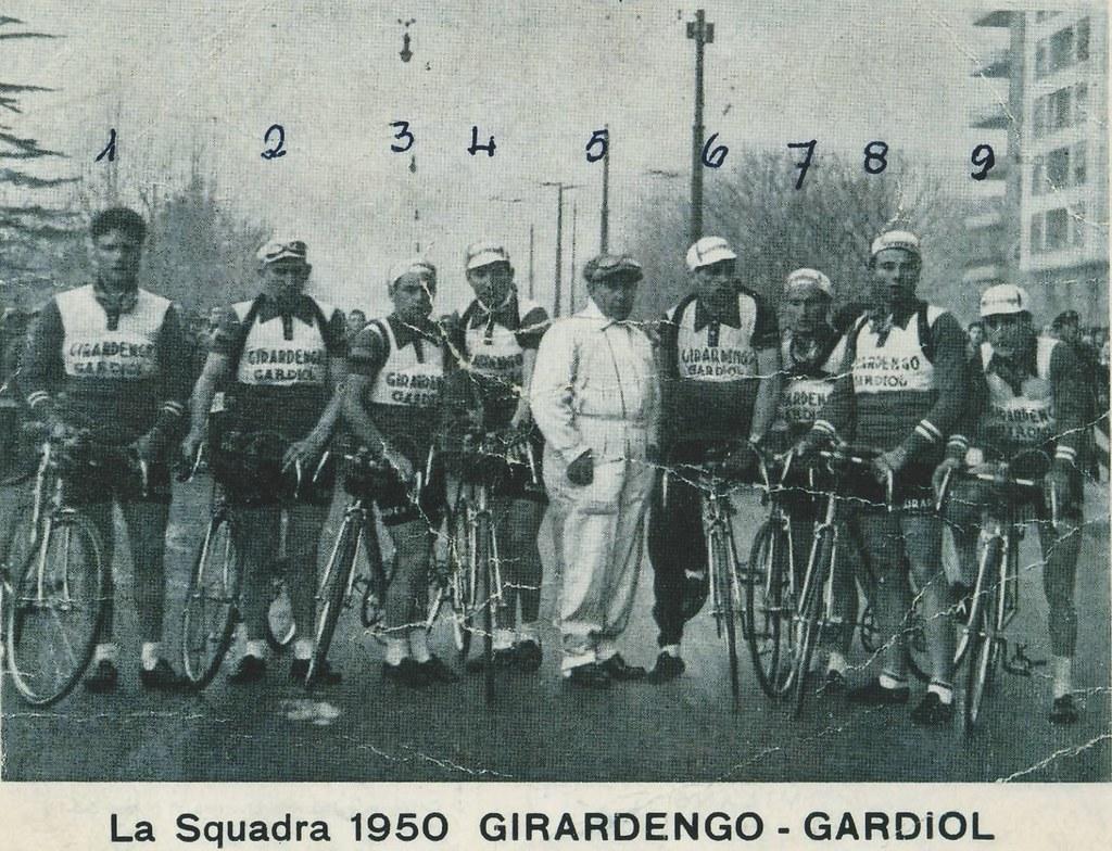 Squadra Girardengo-Gardiol nel 1950