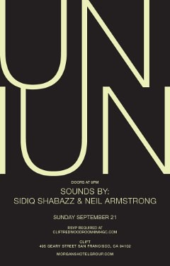 9/21 - Sun - Back in SF for Uniun @ the Redwood Room in the Clift Hotel