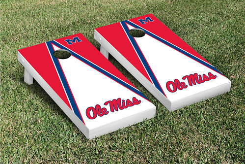 Ole Miss Rebels Cornhole Game Set Triangle Version