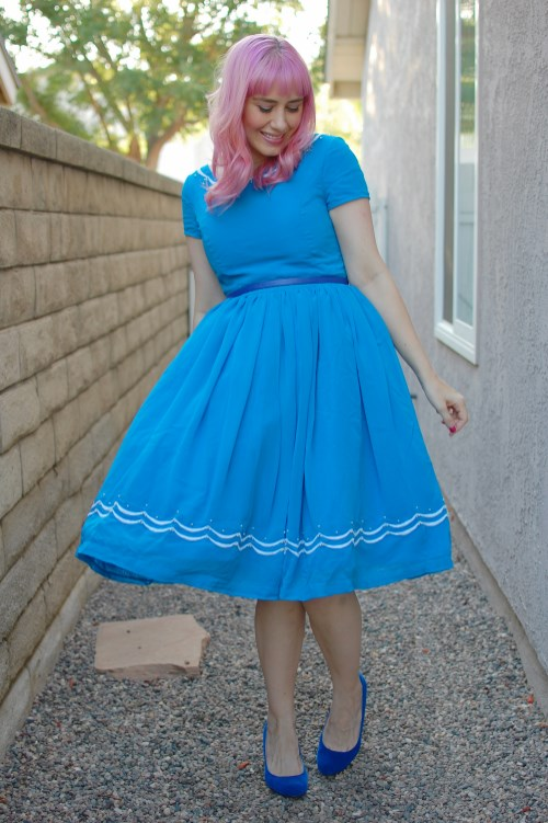 Modcloth Geode Blue Ribbon Baker dress 018