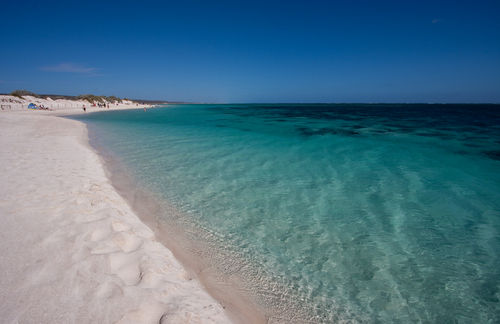 Turquoise Bay in the Cape Range National Park, Ningaloo Reef near Exmouth, Western Australia.