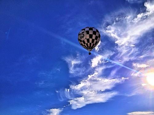 blue sky sun white black sunshine clouds sunrise ray cloudy nevada balloon nv flare hotairballoon reno ios cloudporn iphone 2014 airballoon renoballoonraces greatrenoballoonrace skyporn ranchosanrafaelpark iphone4s