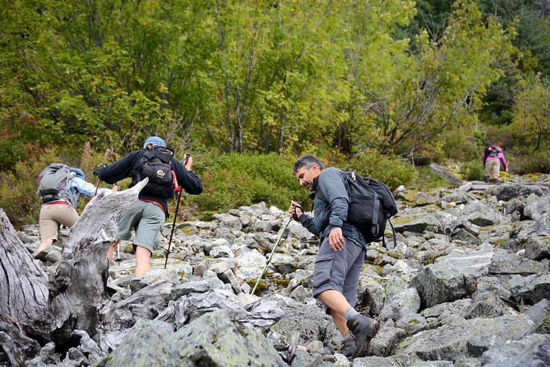 Hiking up Brew Lake trail