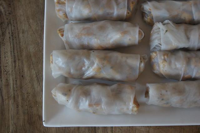 Chicken rice paper rolls (gluten free) DSC00203