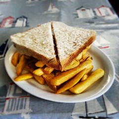 Chip Butty from Winkles 'at the ferry' #Felixstowe
