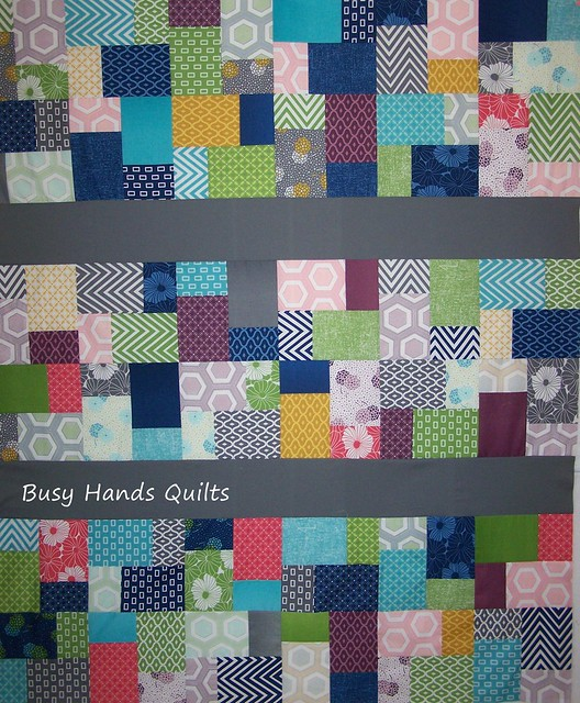 Simply Color Lap Quilt Top