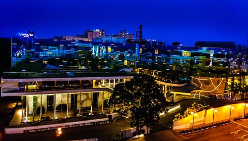 blue light love colors composition hotel sony ngc bangalore taj whitefield nex itpl mirrorless tajhotels tajgroup sonynex3n