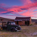 Sunset Over Bodie's Green Truck by Jeffrey Sullivan