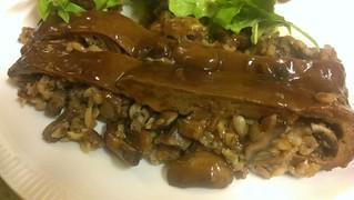 Porcini-Stuffed Seitan with Wild Mushroom Sauce