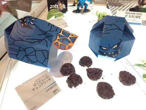 ばくだんいわチョコクランチも登場!今冬発売予定。 #TGS2014  #ドラゴンクエスト
