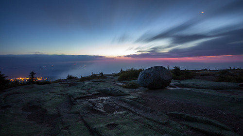 ocean park mountains fog sunrise timelapse maine boulder national acadia barharbor cadillacmountain acadianationalpark