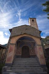 la chiesa di Chianale