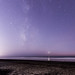 Fading Milky Way Over Torrey Pines State Beach by slworking2