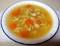 Bowl Of Chicken Noodle Soup.
