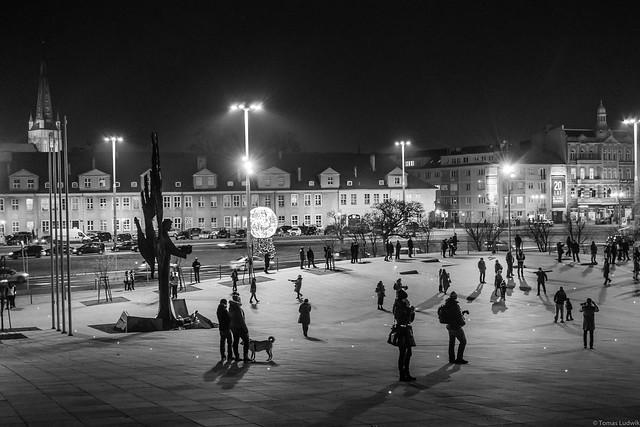 Solidarity square, Stettin, Poland