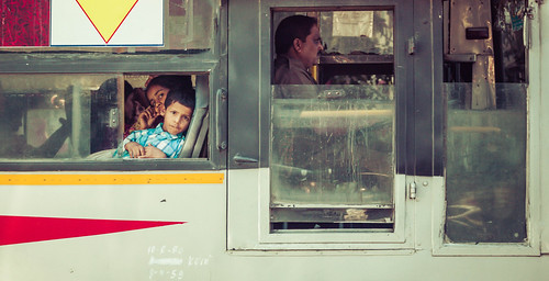 Riding On A Bus In India