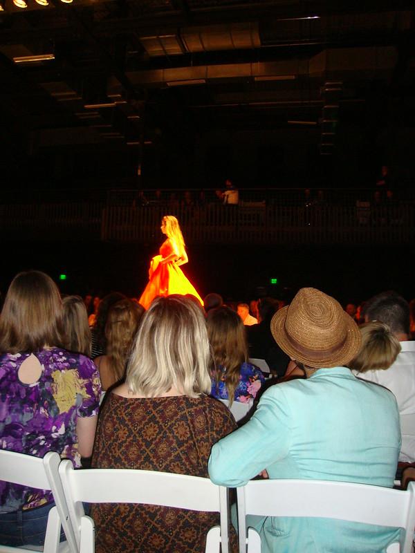 Daniel's orange dress