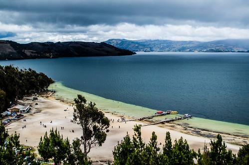 lake azul mar sand flora agua colombia view bluewater playa lagoon panoramic arena blanca panoramica bahia vista laguna playablanca diversidad boyaca tota biodiversidad aquitania lagunadetota duitama boyacense