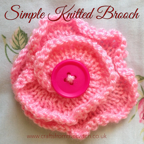 Inspired By Nature Simple Knitted Flower Brooch Crafts From The Cwtch