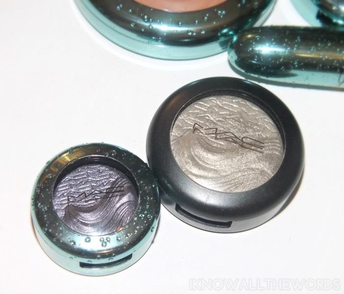 mac alluring aquatic collection extra dimension eyeshadow- fathoms deep size comparison