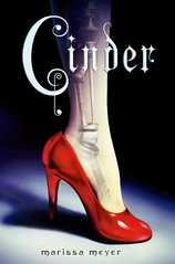Cinder by Marissa Meyer book cover.