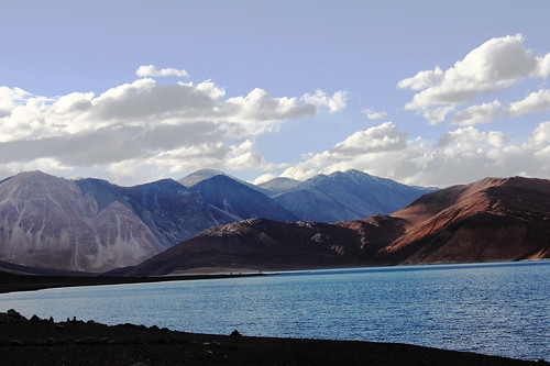 Pangong lake by the evening