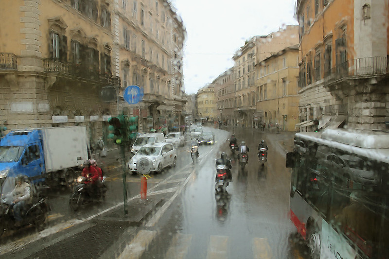 Дождь, Рим, Март