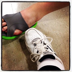 Chemo feet, well feet waiting for chemo #shoes #blissphotoaday #blissdomca
