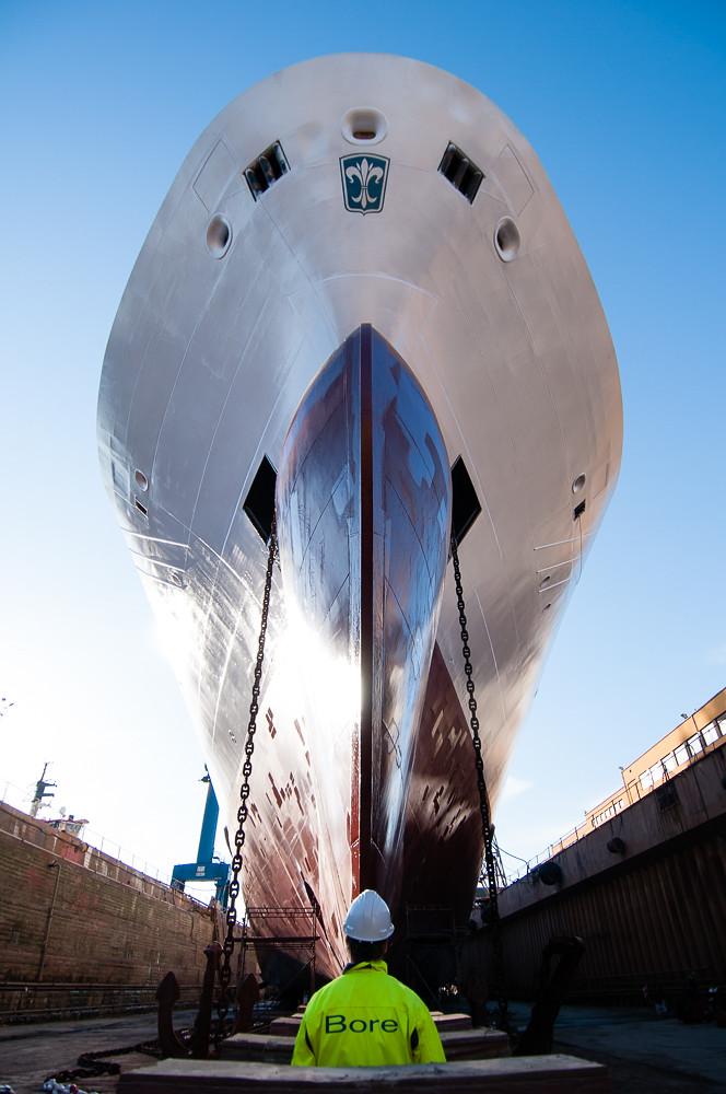 Seagard in dry dock