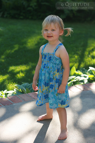 blue sundress