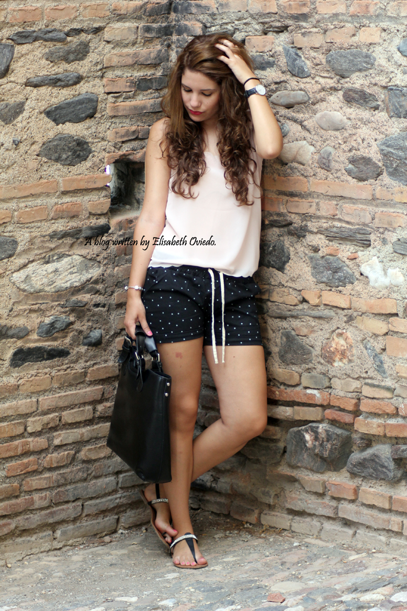 Shorts topos verano Oasap HEELSANDROSES (5)